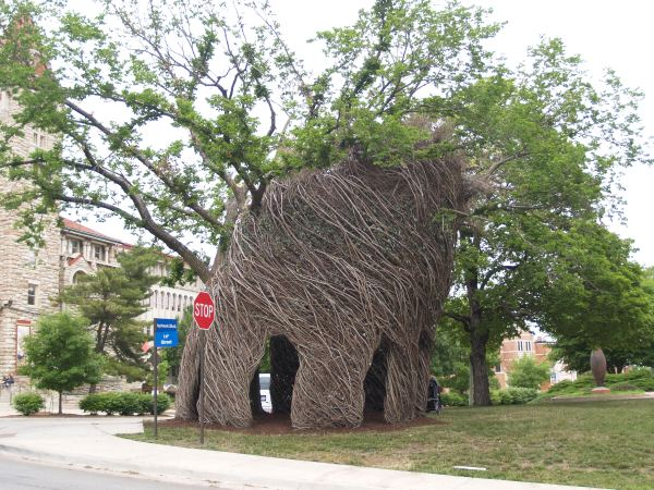 Patrick Dougherty KU Sculpture 003