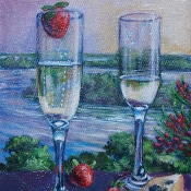 Champagne above Jackson Island