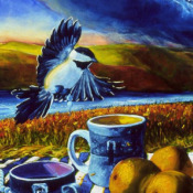 Chickadees and Coffee Detail