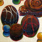 Chocolate Turtle and Truffles Detail