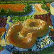 Donuts and Coffee on River Detail of Detail