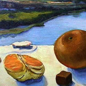 Oranges on the River Detail