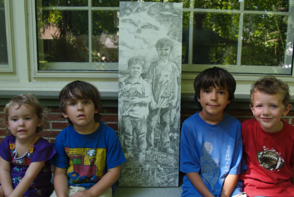 Jude and Jeremiah with their Final Drawing 09 005