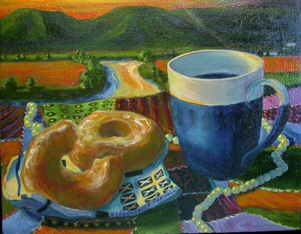 Donuts and Coffee on the River (Detail)