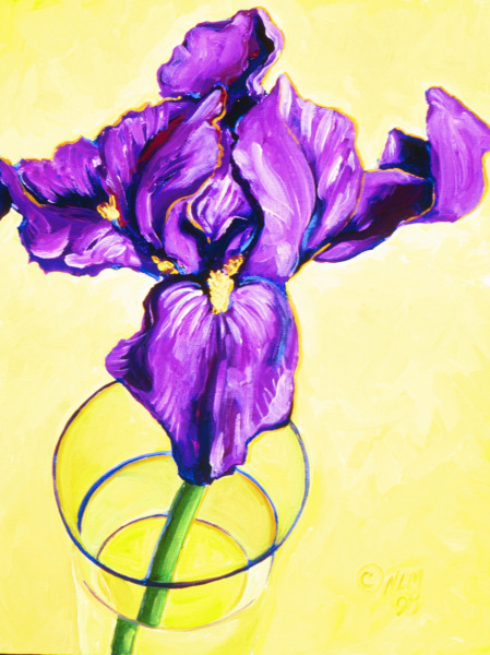 Iris in a Glass