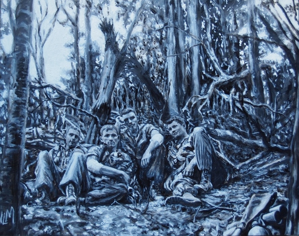Marines in a blasted forest