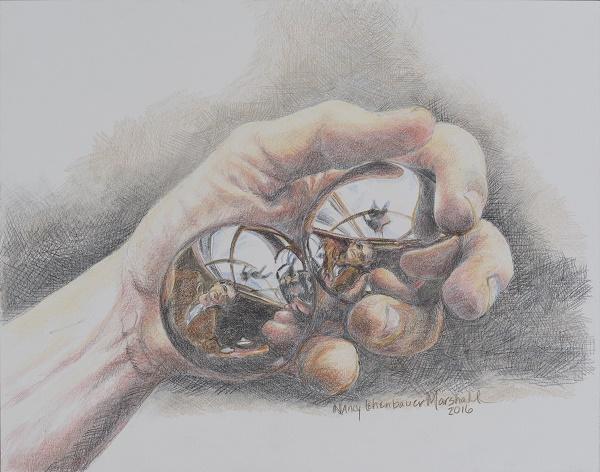 Hand w balls
