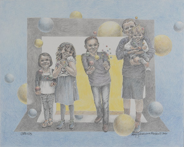 Grands, colored pencil