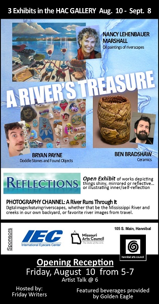 Hannibal show, rivers treasure e-flyer, summer 2018